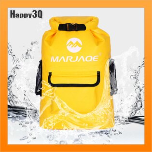 防潑水後背包雙肩包運動包出差包22L出遊旅行溯溪包-藍黑紅【AAA5090】