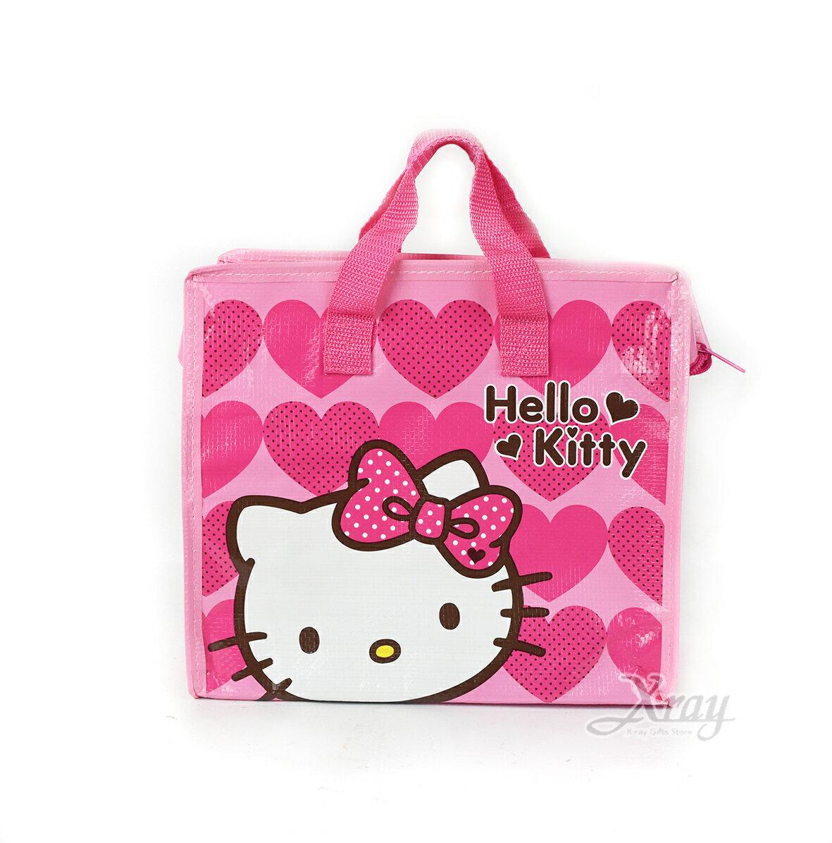 X射線【C168095】Hello Kitty 購物收納袋BAG-小,書袋/購物袋/便當袋/手提袋/筆袋/面紙包/化妝包/零錢包/收納包