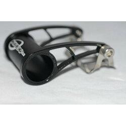 KREX CNC輕量化車燈/碼錶/龍頭轉接座 適用25.4/31.8mm手把-黑色 -僅重29g