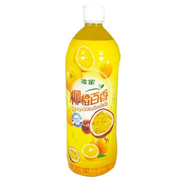 波蜜 柳橙百香綜合果汁飲料 980ml【康鄰超市】