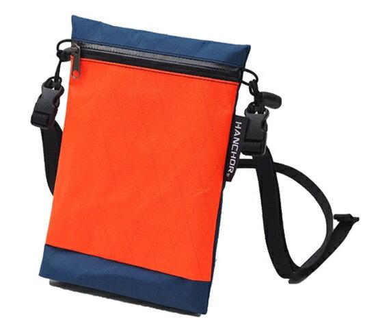 【HANCHOR 台灣】SURFACE MINI 輕量化斜背包-藍橘色 護照包 旅行隨身袋 (OD05)