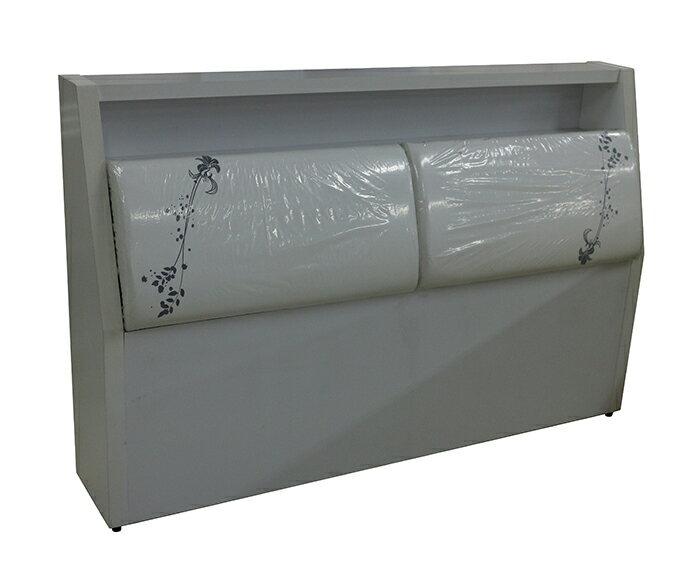 【尚品家具】※特賣※ K-655-35 坷萊蒂絲 白色5尺床頭箱/床頭置物箱/衣物棉被整理箱/床頭收納箱