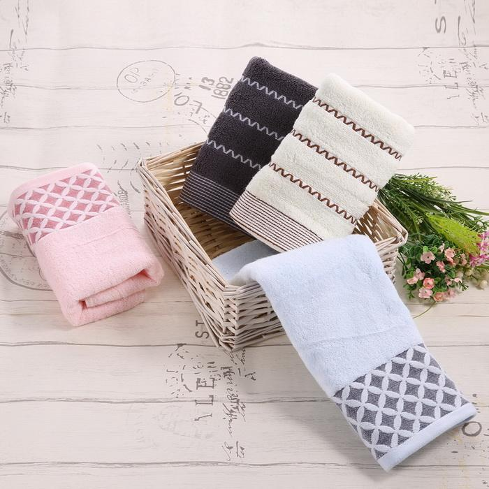 6PCS Cotton Bath Towel Face Shower Towels Set Striped 1