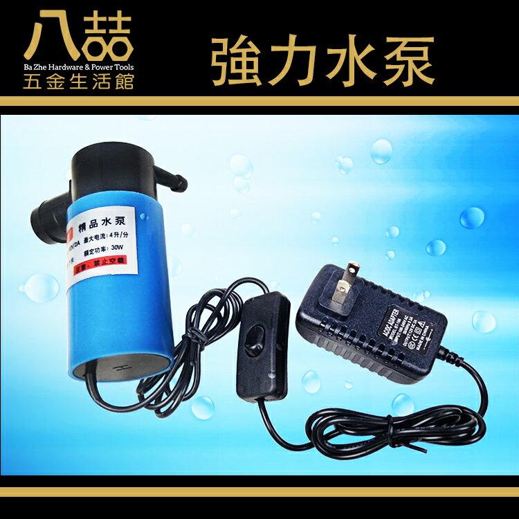 強力水泵 5米 12V 大流量高揚程 小水泵 噴射泵385電機水泵 噴水池 魚缸換水