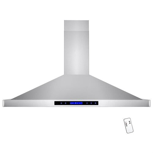 "42"" Stainless Steel Wall Mount Range Hood Touch Screen Display Light Lamp Baffle Filter 1"