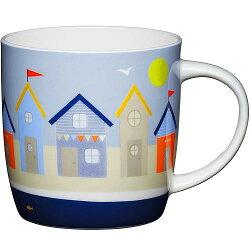 《KitchenCraft》骨瓷馬克杯(沙灘小屋425ml)