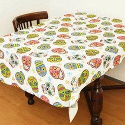 AMINA COLLECTION 日本 墨西哥骷顱頭布料/桌巾『白』ISAP6289 可搭配摺收桌 摺疊桌 折合桌 鋁合金輕巧桌