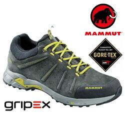 【Mammut 長毛象 瑞士】Convey Low GTX 防水透氣登山鞋 健行鞋 石墨灰 男款 (03220-00210)