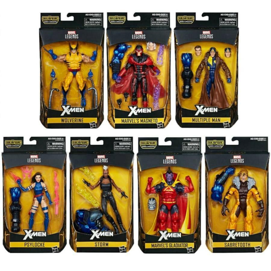 (卡司 正版現貨) Marvel legends 6吋 X戰警 X-MEN 金鋼狼 靈蝶 萬磁王 7+1 (BAF 天啟 天啓)