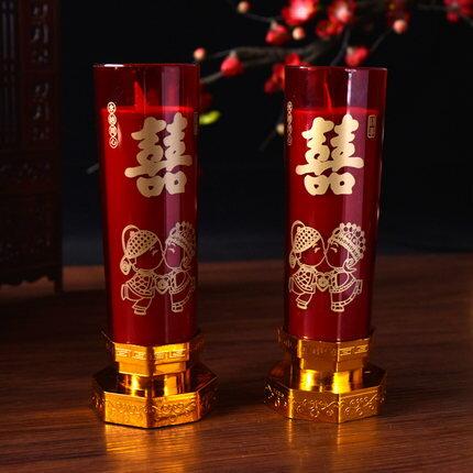 LED電子蠟燭 結婚婚房裝飾 婚慶浪漫LED仿真電子蠟燭 燈洞房花燭婚房佈置蠟燭『MY6894』
