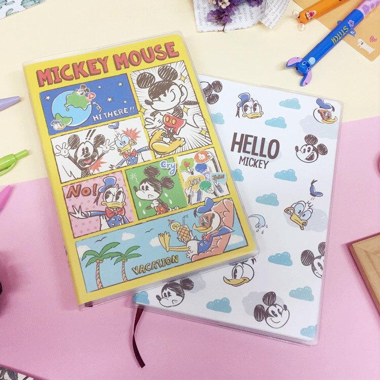 PGS7 迪士尼系列商品 - 迪士尼 繪畫 隨想手札 筆記本 記事本 行事曆 米奇【SHU6689】