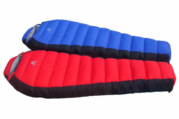?外羽毛睡袋 木乃伊型 高山露營用品(附收納袋)冬天用