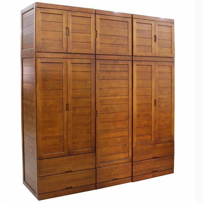 【尚品傢俱】401-25 雀兒喜 實木7.4尺衣櫃/衣櫥/收納櫃/儲物櫃/貯藏櫃/衣物飾品整理櫃/服飾外套置放櫃