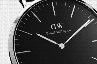 40MM 0134DW 黑錶面 深棕鱷魚錶帶 瑞典正品代購 Daniel Wellington 男錶手錶腕錶 2