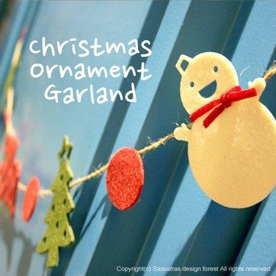 =優生活=韓國 聖誕裝飾佈置拉花party道具 聖誕樹 雪人 麋鹿 雪花 串旗拉旗裝飾