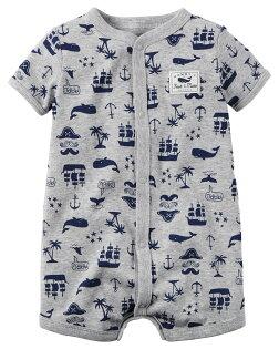 【美國Carter's】純棉連身衣-航海王短袖純棉連身裝#118G286