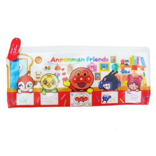 【真愛日本】14040300047 博物館限定-筆袋S同樂會 麵包超人 日本迪士尼 收納包 鉛筆盒