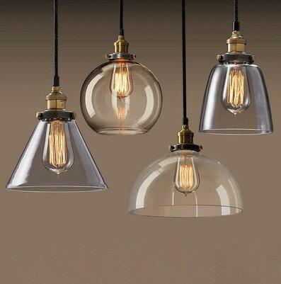 A款杯子loft美式復古工業風燈罩創意個性簡約餐廳酒吧服裝店電鍍玻璃吊燈