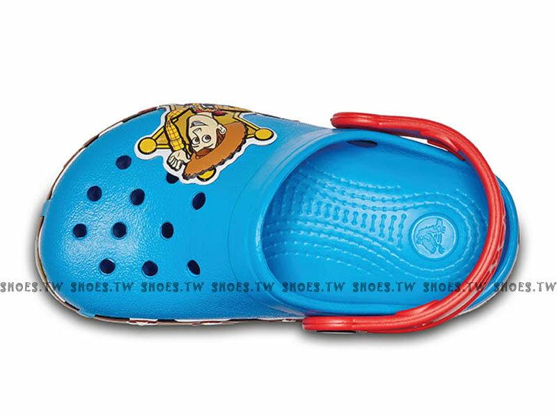 《CROCS出清69折》Shoestw【205002-456】CROCS 卡駱馳 鱷魚 輕便鞋 拖鞋 涼鞋 LED發光 玩具總動員 胡迪 寶藍紅 童鞋款 2