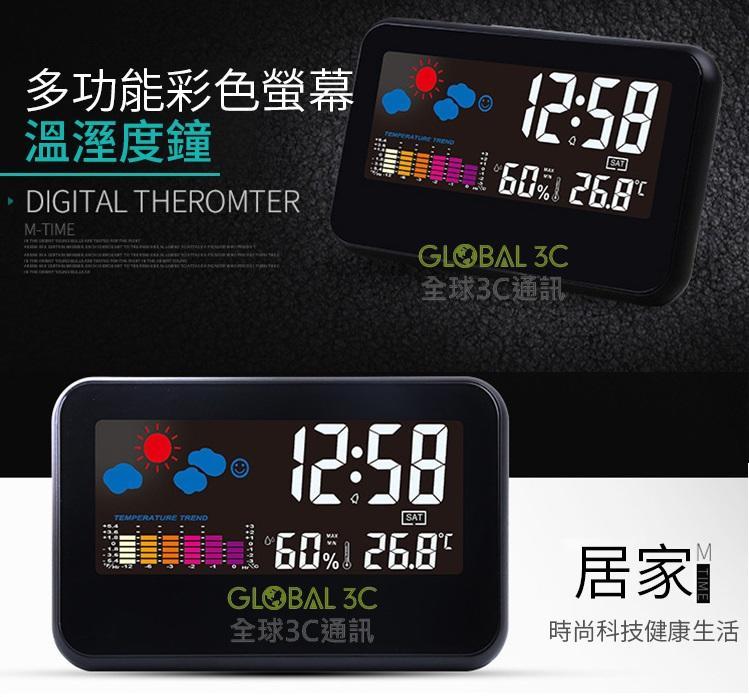 多功能電子時鐘 鬧鐘 智慧多功能 聲控 鬧鐘 溫度 濕度 天氣顯示