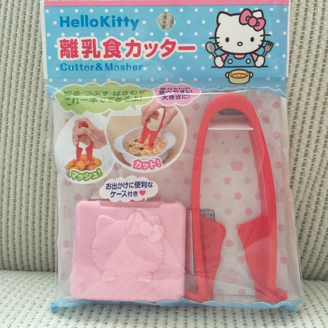 X射線【C575430】Hello Kitty 離乳食物剪附攜帶盒,安全剪刀/食物剪刀/離乳剪刀/寶寶食材剪刀/料理剪刀