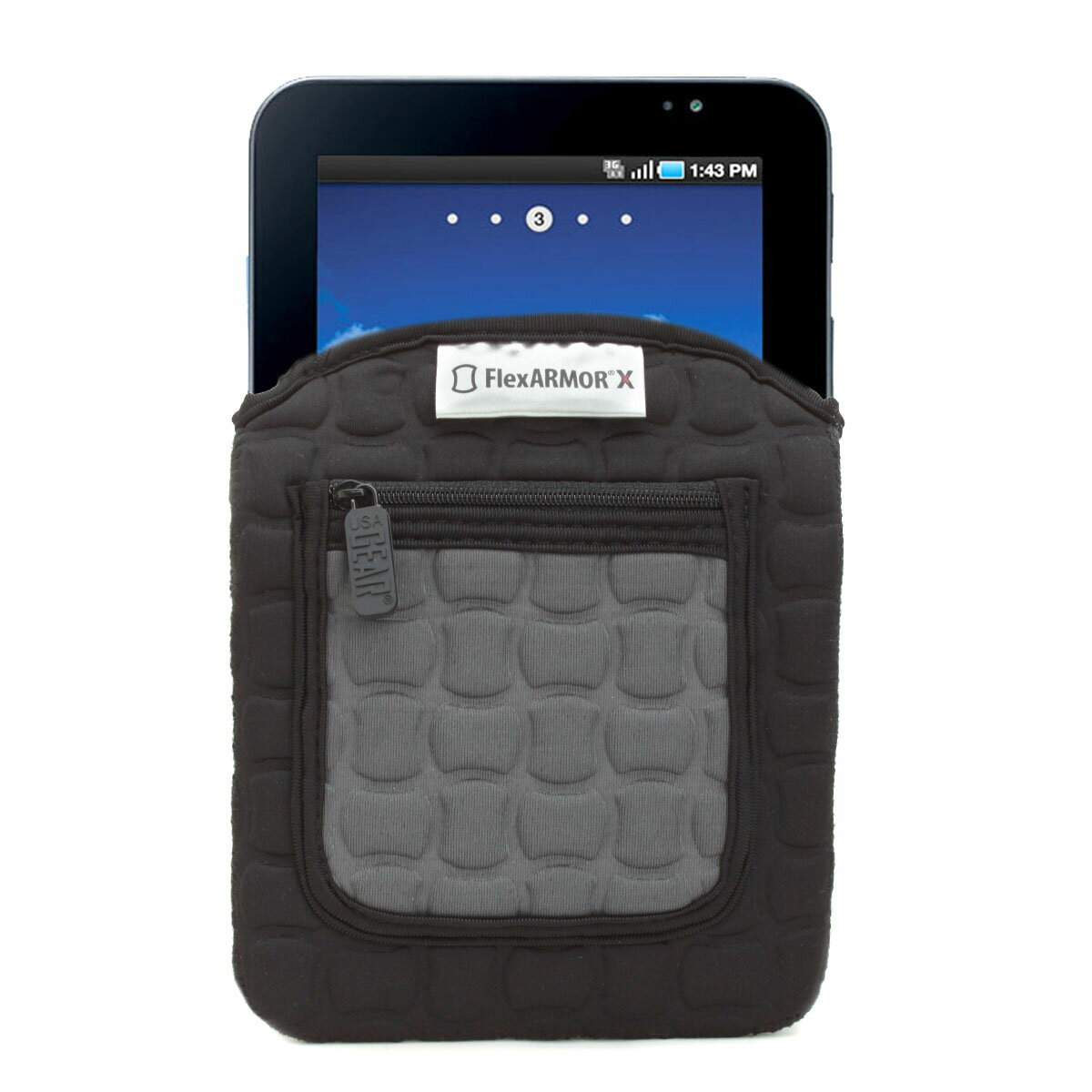 FlexARMOR X Neoprene Tablet Sleeve Case with Carrying Handle , Shock Protection & Accessory Pocket 1