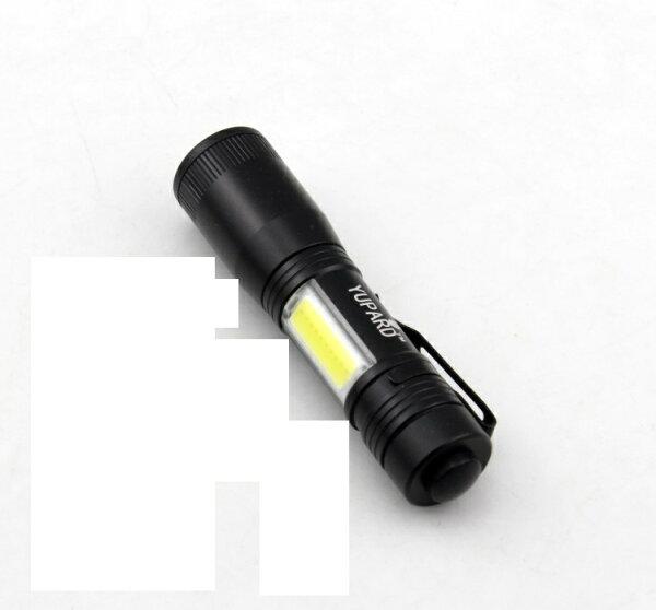新款(變焦)R2超迷你LED手電筒+COB掌心雷手電筒附戰術夾口袋手電筒l2手電筒停電燈露營燈