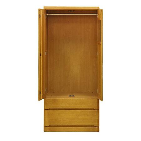 ◎(OUTLET)衣櫥 衣櫃 OUKA 80WR LBR 福利品 NITORI宜得利家居 2