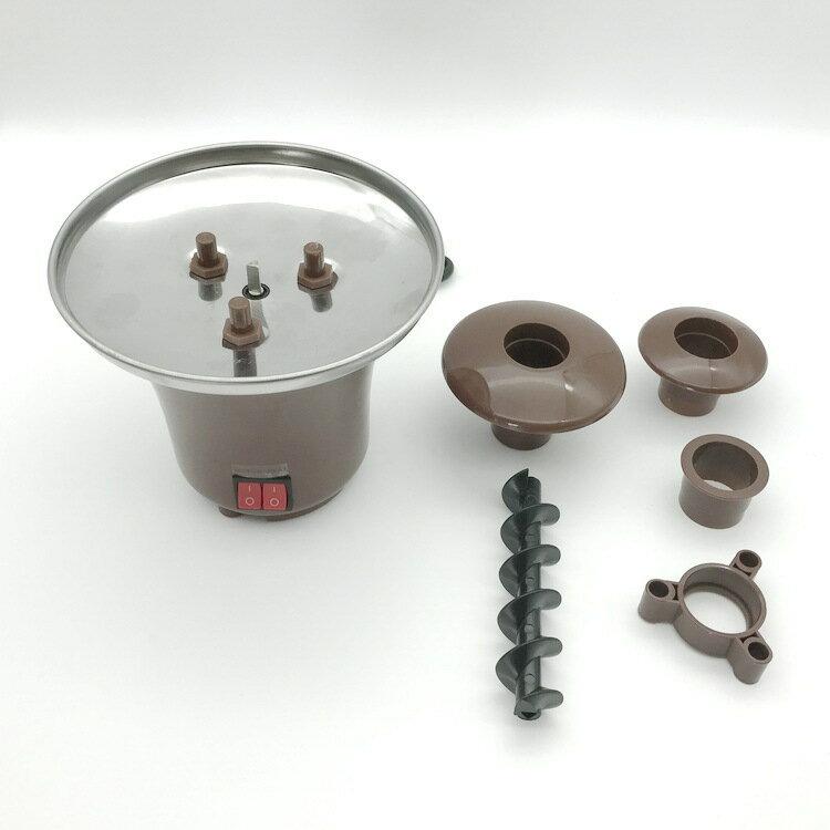 巧克力噴泉機家用迷你三層自制巧克力融化塔加熱歐規美規110v220v