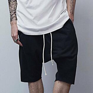 FINDSENSEZ1韓國男時尚街頭嘻哈休閒寬鬆吊襠休閒短褲哈倫褲五分褲七分褲