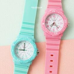 手錶 輕巧繽紛多色休閒運動小圓框矽膠錶 外框可旋轉 兒童錶女錶 柒彩年代【NE1872】單支售價