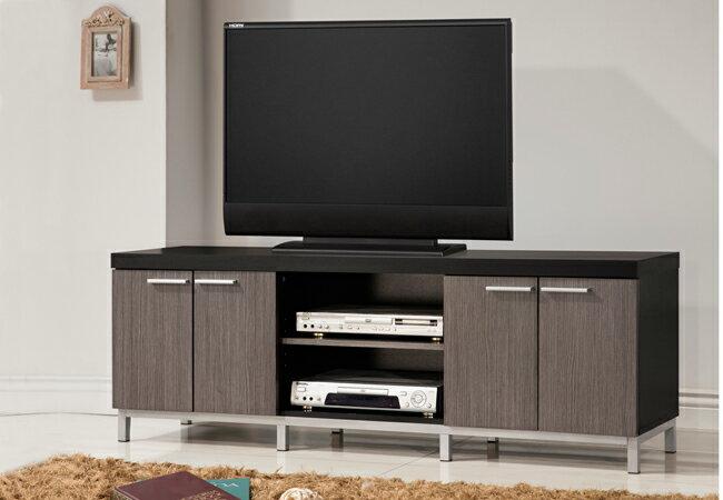 電視櫃 / 歐登5尺四門電視櫃-銀黑色/  客廳櫃 / 客廳組  & DIY組合傢俱