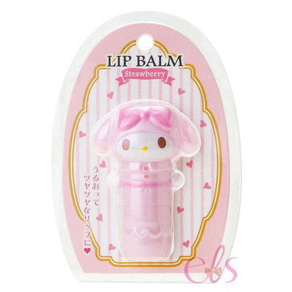 日本 SANRIO 造型保濕護唇膏 Melody美樂蒂 草莓 ☆艾莉莎ELS☆