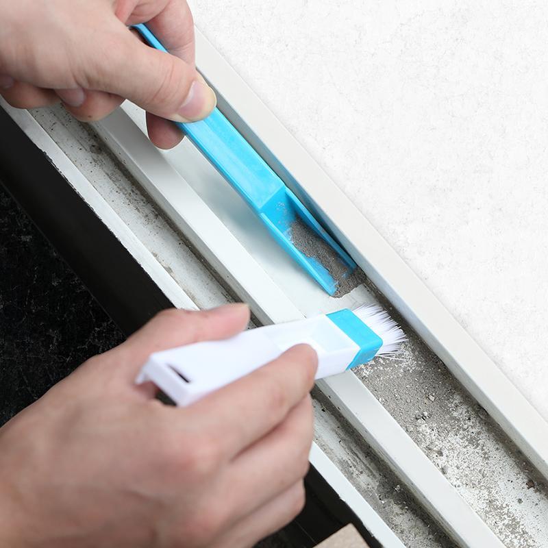 門窗溝槽槽溝刷窗槽清潔工具地板清理去死角凹槽窗戶槽毛刷子縫隙1入