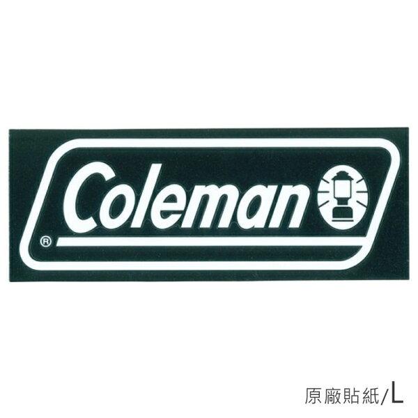 【露營趣】中和安坑ColemanCM-10523原廠貼紙L汽車貼紙抗UV防退色