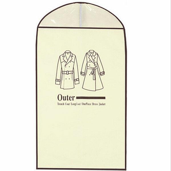 BO雜貨【SV6479】韓國拉鏈式半透明衣物防塵罩大衣外套收納防塵衣物收納防塵袋60*120公分