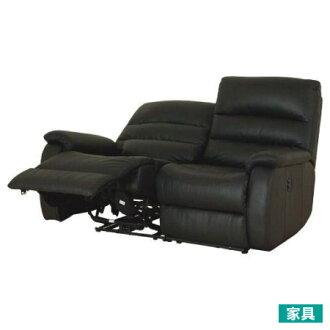 ◎全皮2人用頂級電動可躺沙發 BELIEVER2 BK