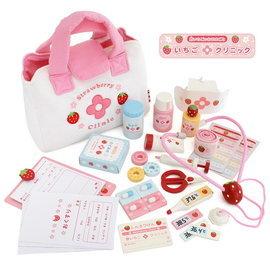 【淘氣寶寶】【日本 Mother Garden】野草莓小小醫護診所組 / 家家酒玩具【原廠公司貨】