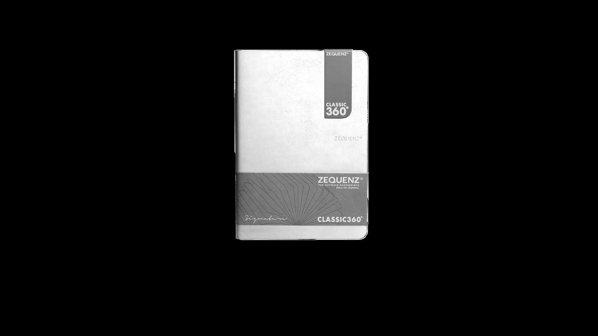 ZEQUENZ 360  可摺疊方眼筆記本(B6)(白色)
