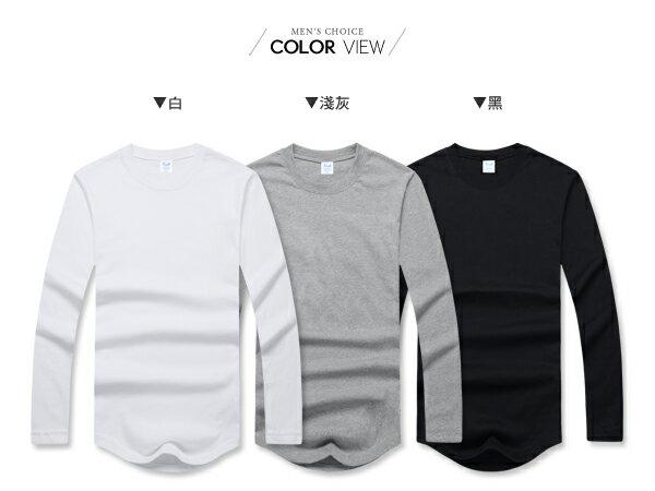 ☆BOY-2☆【PPK86133】韓版男裝下擺圓弧長版T恤 1