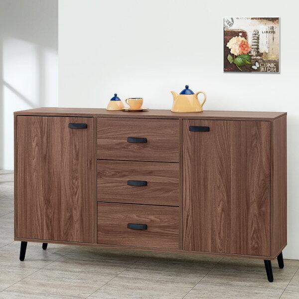 收納櫃置物櫃碗盤收納櫃【Yostyle】達倫5尺收納餐櫃