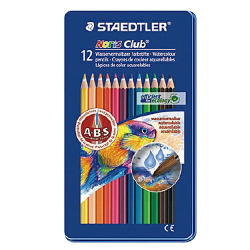 【施德樓 STAEDTLER 色鉛筆】MS14410M12 水性色鉛筆 12色