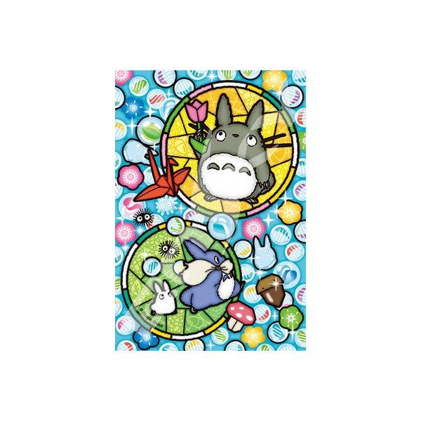 ﹝宮崎駿會館﹞17060300005日本製迷你拼圖126P-龍貓彩色泡泡 龍貓 TOTORO 豆豆龍 玩具 拼圖 益智 正品