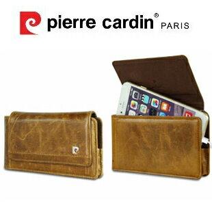 [ iPhone6/6S ] 法國皮爾卡登Pierre Cardin 4.7吋 高級牛皮腰掛式手機套/保護套/皮套 棕色
