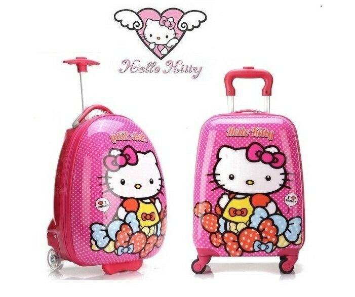 ~貝貝樂SHOW~小公主外出旅行輕鬆攜帶超卡哇依Hellokitty圓點糖果行李拉桿箱^~
