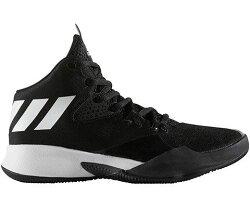 ADIDAS DUAL THREAT 童鞋 大童 籃球 緩衝 輕量 穩定 透氣 舒適 黑 白【運動世界】BY4442