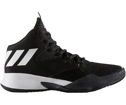 ADIDASDUALTHREAT童鞋大童籃球緩衝輕量穩定透氣舒適黑白【運動世界】BY4442