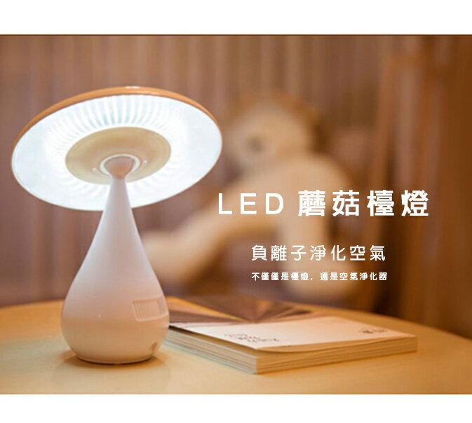 ?最佳情人節禮物?年節禮品 LED蘑菇檯燈 蘑菇燈空氣淨化功能 可調光360度 USB供電