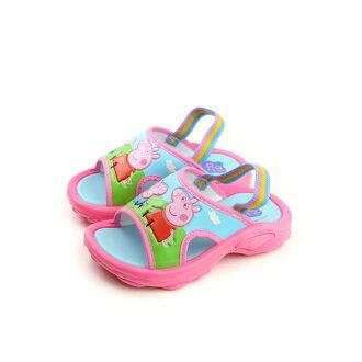 粉紅豬小妹 涼鞋 童鞋 粉紅色 小童(無鬆緊帶) PG0034 no692