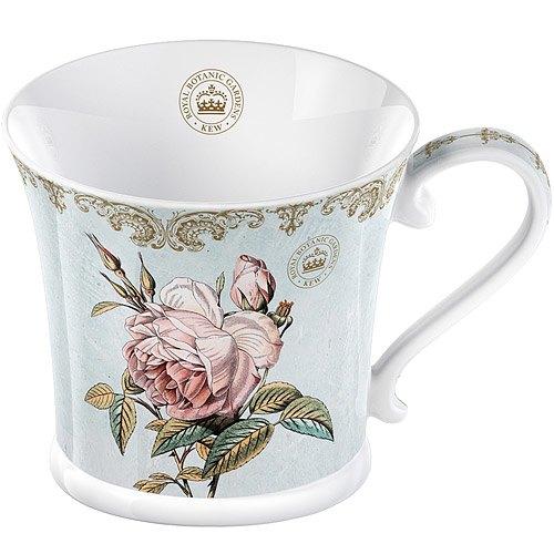 《CreativeTops》Kew寬口馬克杯(玫瑰典雅藍250ml)